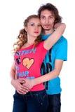Abbraccio della donna e dell'uomo Fotografie Stock
