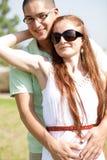 Abbraccio delle coppie del taglio Fotografia Stock Libera da Diritti