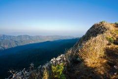 Abbraccio delle montagne Fotografia Stock
