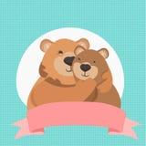 abbraccio di orsi sveglio Immagine Stock Libera da Diritti