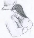 Abbraccio romantico royalty illustrazione gratis