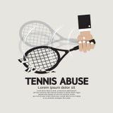 Abbrechen-Tennis-Missbrauch Lizenzfreie Stockbilder