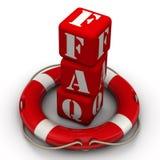 Abbreviation FAQ and lifebuoy Royalty Free Stock Photography