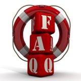 Abbreviation FAQ and lifebuoy Royalty Free Stock Image