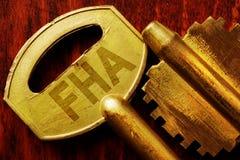 Abbreviation FHA on a key. Royalty Free Stock Image