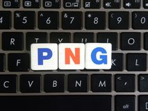 Abbreviation PNG on keyboard background. Abbreviation PNG Portable Network Graphics on keyboard background royalty free stock image
