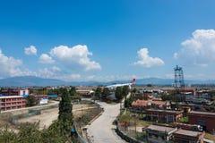 Abbruch Turkish Airliness Airbus an Kathmandu-Flughafen Stockbilder