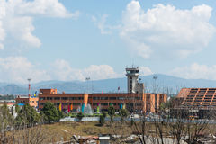 Abbruch Turkish Airliness Airbus an Kathmandu-Flughafen Stockbild