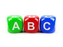 ABC切成小方块 库存照片