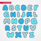 ABC剪影拉丁字体 孩子的装饰滑稽的被隔绝的信件象 文本的字母表标志 免版税图库摄影