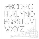 ABC向量字体书信设计 免版税库存图片