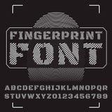 abc字母表五颜六色的设计字形向量 免版税库存图片