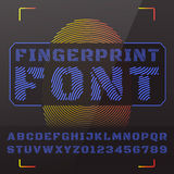 abc字母表五颜六色的设计字形向量 库存照片