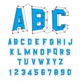 abc字母表在机械集时间表上写字 3d例证向量 设计 库存照片