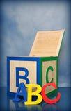 abc字母表块 图库摄影