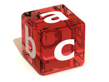 abc字母表多维数据集 免版税库存照片