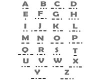 ABC字母表莫尔斯 库存例证