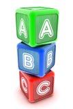 ABC积木 免版税库存图片