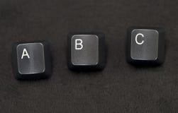 abc键盘键 免版税图库摄影
