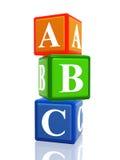 abc颜色求堆的立方 免版税库存图片