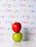 abc-äpplen Arkivfoton
