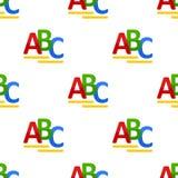 ABC άνευ ραφής σχέδιο εικονιδίων επιστολών επίπεδο Στοκ Εικόνες