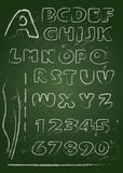 ABC - Αγγλικό αλφάβητο που γράφεται σε έναν πίνακα Στοκ Φωτογραφίες