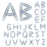abc ζωηρόχρωμο διάνυσμα ύφους τύπων χαρακτήρων σχεδίου αλφάβητου Στοκ Φωτογραφίες