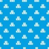 ABC κυβίζει το άνευ ραφής μπλε σχεδίων Στοκ Εικόνες