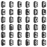 Abc Οικοδόμηση της πηγής με τους αριθμούς Στοκ Εικόνα