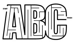 abc ο εύκολος λαβύρινθος λύνει Στοκ εικόνα με δικαίωμα ελεύθερης χρήσης