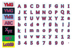 ABC123 σύνολο γραμμών λωρίδων Στοκ φωτογραφίες με δικαίωμα ελεύθερης χρήσης