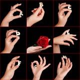abc χέρια αλφάβητου Στοκ Φωτογραφίες