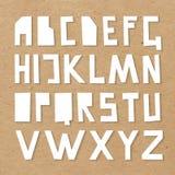 ABC вектора бумажный на предпосылке картона Стоковые Изображения RF