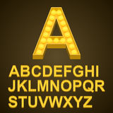 Abc знака искусства шариков шрифта Стоковая Фотография