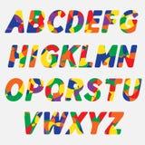 ABC Красочные творческие смешные письма алфавита Стоковые Фотографии RF