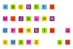 abc кубики цветасто Стоковое фото RF