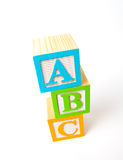 abc преграждает деревянное Стоковое Изображение