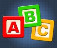 Abc ягнятся письма алфавита середин блоков и алфавитное иллюстрация штока