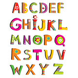 ABC. 向量花字体。 图库摄影