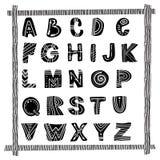 ABC -拉丁字母海报 库存照片