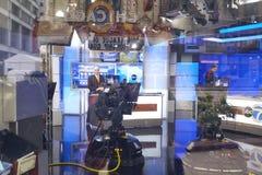 ABC 7现场展示在演播室 库存图片