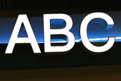 ABC fotografia stock