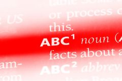 ABC Stockbilder