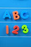 abc 123 Arkivfoto