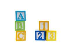 abc 123 som lätt Arkivbilder