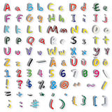 ABC. The picture shows a assortment of letters of the alphabet and different symbols and signs Royalty Free Stock Photo