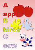 ABC. Alphabet for baby and kids  illustration Stock Photo
