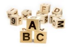 ABC信函块 免版税库存图片