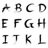Abc. Alphabet  written with a paint brush Stock Photography